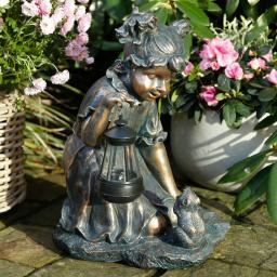 Solarlampe Annabelle, 40x23x28 cm, Polyresin, bronze