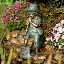 Wasserspiel Flötenspieler Benni, 60x22x30 cm, Polyresin