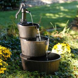 Brunnen Wilder Westen, 100x56x56 cm, Kunststoff, bronze