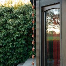 Regenkette Henkeleimer, 200 cm, Aluminium, Kupferblech