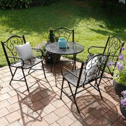 Gartensitzgruppe Bombay, 5-teilig, Eisen, schwarz