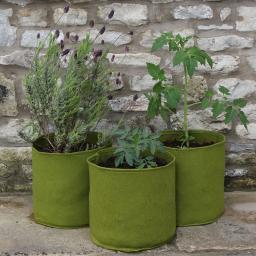 Gemüse Pflanztaschen, 3er-Set, ca. 25x25 cm, 3x10 Liter