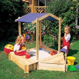 Sandkasten-Set Peter Pan mit Sitz-/Bugbox