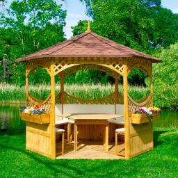 Holzboden für Pavillonserie Palma