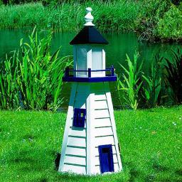 Leuchtturm Norderney klein weiß/blau