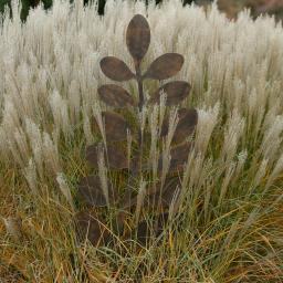 Gartenstecker Pflanzenast, 170x1,5x53 cm, Eisen, rost-braun