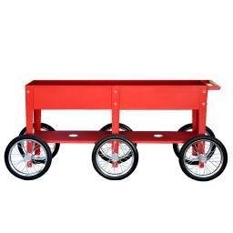 Herstera Hochbeet Urban Garden Wheels, rot, 150x35x80 cm
