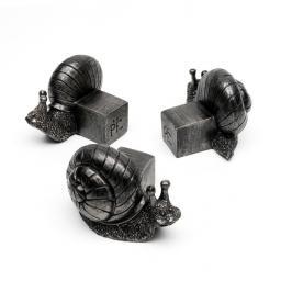 Kübelfuß Bronzeoptik 3er-Set Schneckchen, 5,5x6,5x8,5 cm