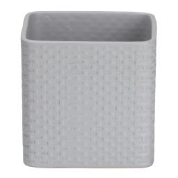 Scheurich Keramik-Übertopf Ribbon, 12,8x13,2x13,2 cm, Light Grey