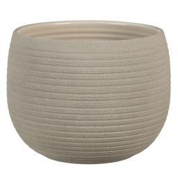 Scheurich Keramik-Übertopf, rund, 12x16x16 cm, Taupe Stone