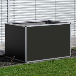 Aluminium-Hochbeet anthrazit, silber 130, 121x91x77 cm