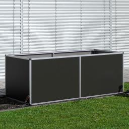 Aluminium-Hochbeet 210, anthrazit /silber, 205x91x77 cm