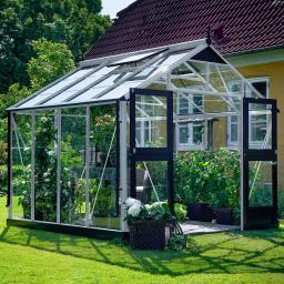Gewächshaus Premium 8,8 m², silber
