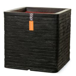 Pflanzkübel ROW quadratisch, 40x40x40 cm,  schwarz