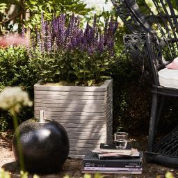 Capi Pflanzkübel ROW quadratisch, 30x30x30 cm,  grau