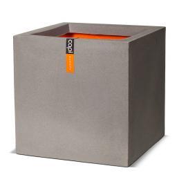 Pflanzkübel quadratisch, 40x40x40 cm, grau