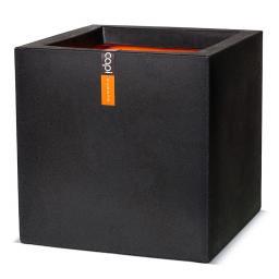 Pflanzkübel quadratisch, 40x40x40 cm, schwarz