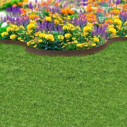 Rasenkante Klassik, 610 cm, braun