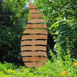 Rankgitter Blatt Sambucus, 197x73 cm, Lärchenholz, natur