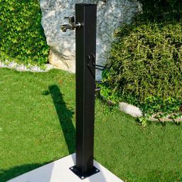 Wasserzapfsäule Quadra, 100x14x21 cm, Stahl, anthrazit