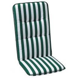 Hochlehner Auflage Porto, gestreift, 120x50x6 cm, grün weiss