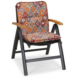 Best Niedriglehner Auflage Porto, Rautendesign, 100x50x6 cm, orange rot