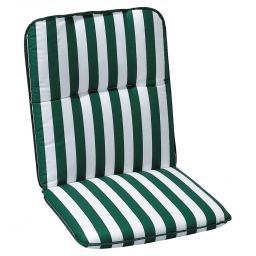 Best Niedriglehner Auflage Porto, gestreift, 100x50x6 cm, grün weiss