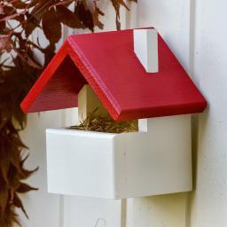 Rotkehlchen-Nistkasten Cadiz, 19 x 15 x 22 cm, Holz, weiß