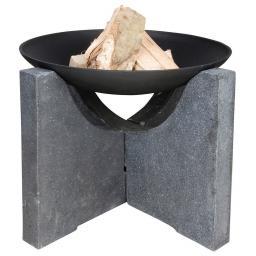 Esschert Design Feuerschale Granato, 46x68x68 cm, grau, schwarz