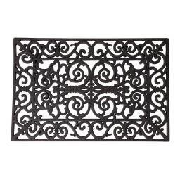 Esschert Design Fußmatte Kaiserli, 1,7x40x70 cm, Gummi, schwarz