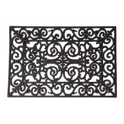 Esschert Design Fußmatte Sophie, 1,4x38,3x66,5 cm, Gummi, schwarz