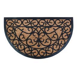 Fußmatte Elisabeth, 1,1x45x74,5 cm, Gummi und Kokos, schwarz