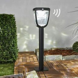 Solar-Wegeleuchte Henk mit Bewegungsmelder, 65,5x18x19 cm, Aluminium, schwarz
