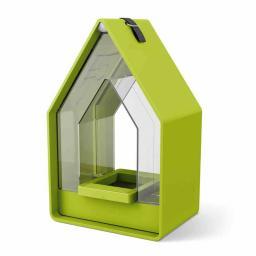 Futtersilo Landhaus, 15x10x24 cm, Kunststoff, grün