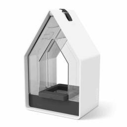 Futtersilo Landhaus, 15x10x24 cm, Kunststoff, weiß