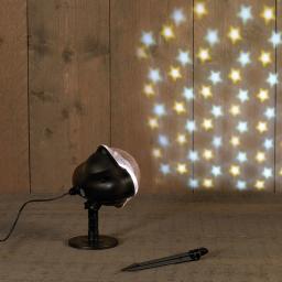 LED Outdoor Projektor Stern, Kunststoff, schwarz