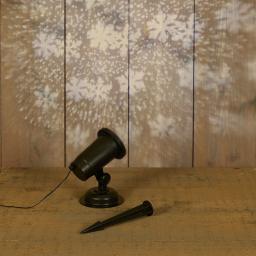 LED-Projektor Schneesturm, Kunststoff, schwarz