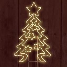 Neon-LED-Tannenbaum, 120x66x2 cm, Metall, weiß