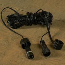 Koppelbares Verlängerungskabel LED-Lichtsystem 24V, 500cm. schwarz