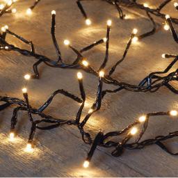Clusterlichterkette 192 LEDs, 250cm, Kabel transparent
