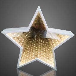 LED-Stern Infinity zum Hängen und Stellen, 29,5x5x28 cm, weiß