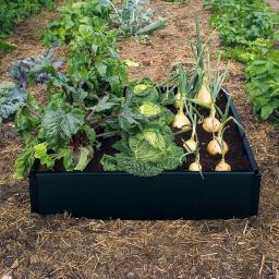 Hochbeet Grow 230 Liter,  97,5 x 97,5 x 25 cm, schwarz