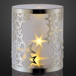 LED-Dekolicht, 12x12x14 cm, silber