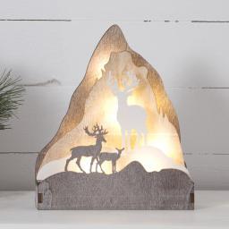 Star LED-Dekoleuchter Fauna 18x6x21 cm, Holz, braun