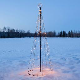 LED Lichterbaum Light Tree, 75x210 cm, Metall, schwarz