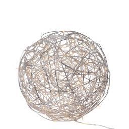 LED-Designkugel Trassel, 37 cm, Aluminium, silber