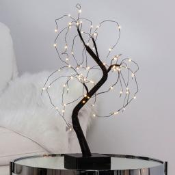 LED-Baum Willy, 40x25x20 cm, Kunststoff und Metall, schwarz