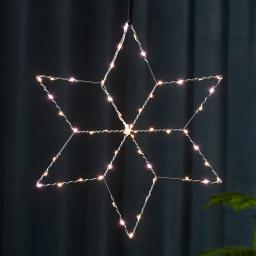 Star LED-Leuchstern Lolly, 45 cm, Metall, silber