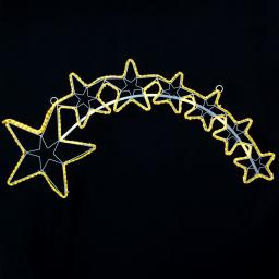 Star LED-Silhouette Tapesil, 102x2x53cm, Metall, weiß
