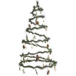 LED-Weihnachtsbaum Natural Christmas, 58 cm, Metall, grün